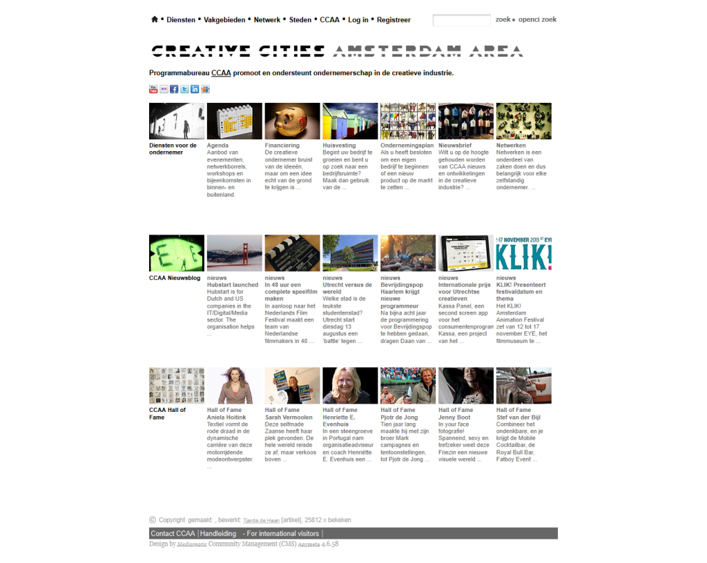 Creative Cities Amsterdam Area (CCAA)